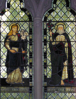 Saint Mary by Burne-Jones and Saint Joseph by William Morris